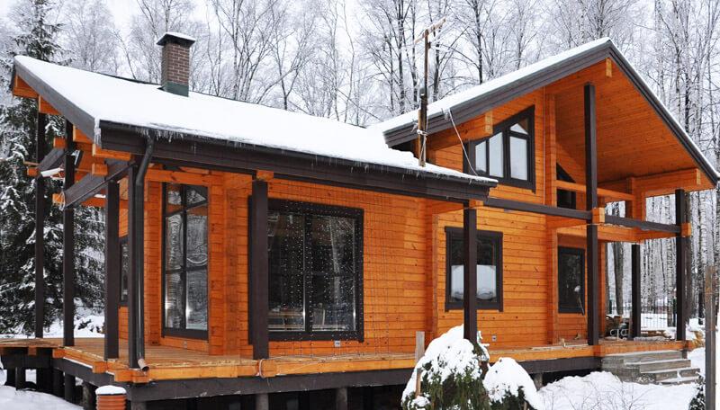 Фото красивых проектов домов из бруса