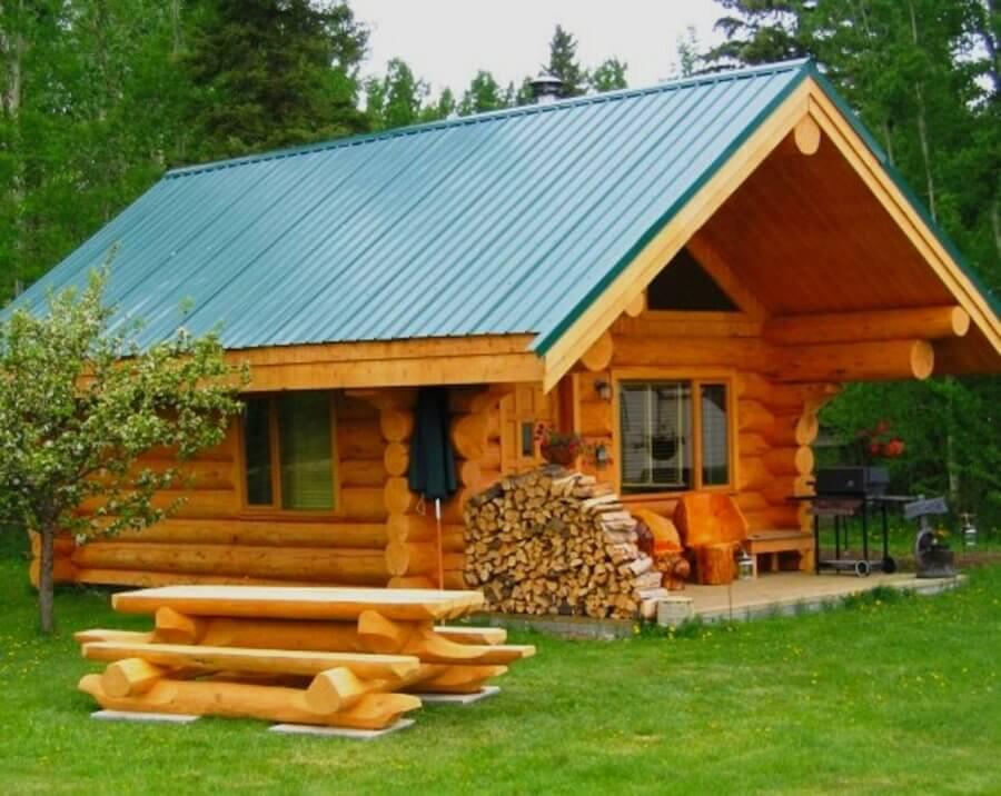 Бревенчатые домики